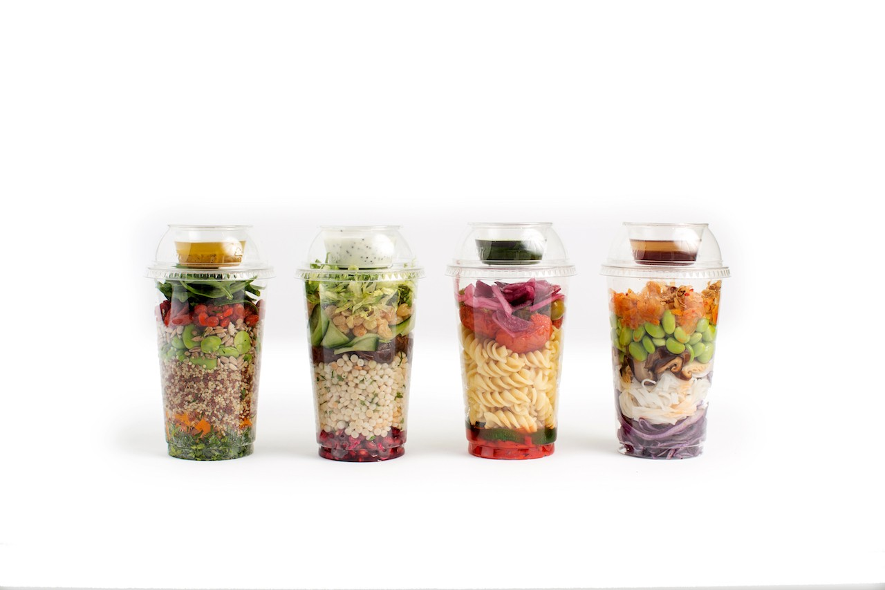 Office Catering Salad Pots