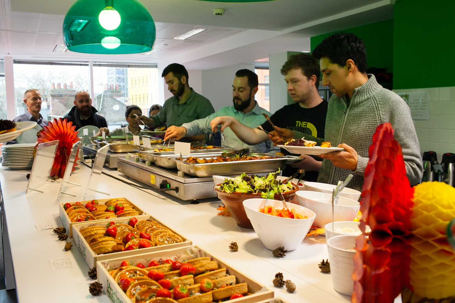 Office team catering London